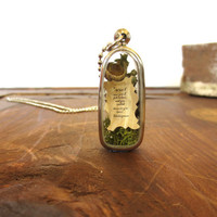 When I Saw you I Fell in Love....Miniature Terrarium with Beautiful Love Note Enclosed, Love Note Locket