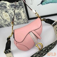 436 Dior Fashion Leather Be A Classic With Classic Saddle Bag 24.5-20-5cm