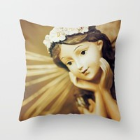 Daydreamer - Vintage Angel Throw Pillow by Legends Of Darkness Photography