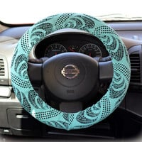 Steering-wheel-cover-for-wheel-car-accessories-Mint-Lace-Steering-Wheel-Cover
