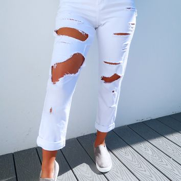 Can't Stop You Jeans: White