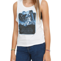 Star Wars Her Universe Illustrated Poster Girls Muscle Top