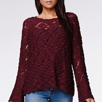 Kendall & Kylie Bell Sleeve Raglan Pullover Sweater at PacSun.com