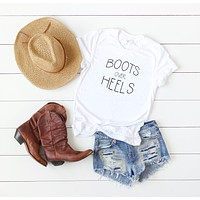 Boots Over Heels Short Sleeve | Clearance