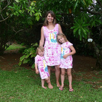 Mother Daughter Dresses - Hand Painted Sun Dress - Kauai Beach Dress - Hawaii Cover Up - plus sizes -  custom order for women girls