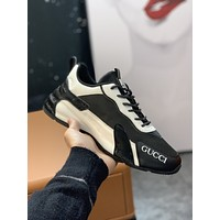 Gucci Men Fashion Boots fashionable Casual leather Breathable Sneakers Running Shoes 0322em