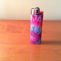 tye dye custom bic lighter