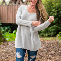 Just Because Tunic, Gray