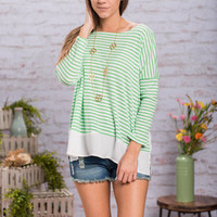 Master Of Stripes Top, Green