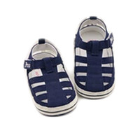 Baby BOY Loafer Flats Shoes Baby Sandals Prewalker(Dark Blue)