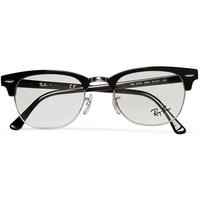 Ray-Ban - Clubmaster Acetate And Metal Optical Glasses | MR PORTER