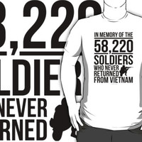 'In Memory of the 58,220 Soldiers Vietnam' T-Shirts
