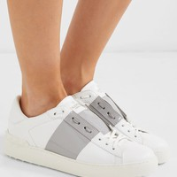 VALENTINO Garavani two-tone leather sneakers