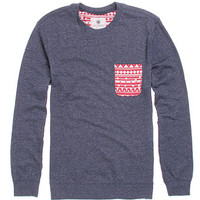 On The Byas Remy Contrast Pocket Crew Fleece at PacSun.com