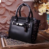 CAOCH WOMEN FLOWERS LEATHER HANDBAG SHOULDER BAG
