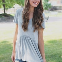Playing for Keeps Top - Heather Grey