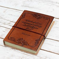 """Wonderful Nothings"" Jane Austen Handcrafted Leather Embossed Journal"