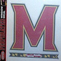 "Maryland Terrapins SD Medium 8"" Perforated Auto Window Film Decal University of"