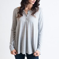 Light As A Feather Heather Grey Top