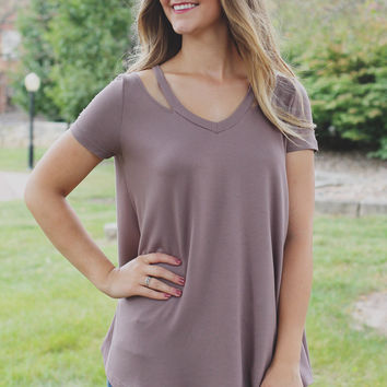 Three Day Weekend Top - Taupe