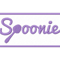 Spoonie Embroidered Patch Applique – Spoonie Patch – Spoonie Applique – Spoonie Badge – Chronic Illness Patch – Chronic Illness Applique