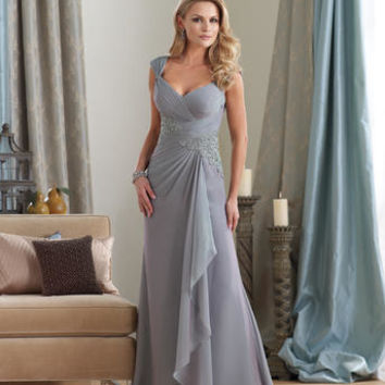 Mother of the Bride Dresses – Montage by Mon Cheri 212950 Long Chiffon