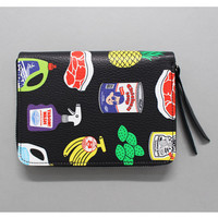 Oohlala funny illustration tabom goods zip around half wallet