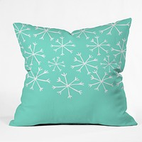 Allyson Johnson Its snowing Throw Pillow