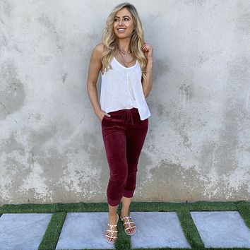 Laid-Back Babe Red Joggers