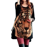 Little hand women's Bowknot strap Stretchy Long Sleeve batwing Knitted Tunic Top