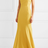 Rebecca Vallance - Breakers bow-embellished stretch-crepe gown