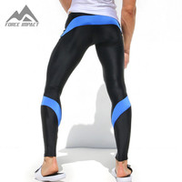 Men's Sport Sexy Tight Pants Gym Ankle Length Pants Male Athletic Trousers Casual Sweatpants Skinny Stretch Active Pant AQ1