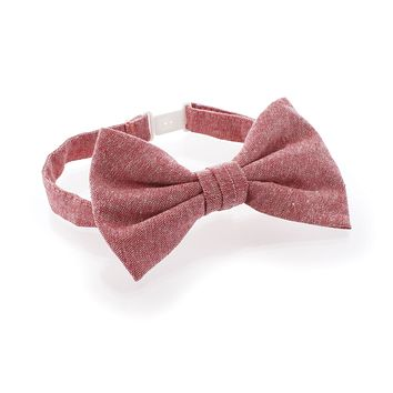 Child Chambray Adjustable Pre-Tied Bow Tie