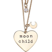 LOVEsick Moon Child Tattoo Choker and Double Chain Necklace Set