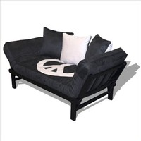 Hudson Convertible Futon Sofa with Black Metal Frame by American Furniture Alliance