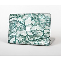 "The Gentle Green Wrinkled Lace Skin Set for the Apple MacBook Pro 15"" with Retina Display"