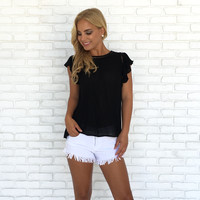 Dress Up Blouse In Black