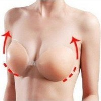 Vogue Self Adhesive Strapless Backless Silicone Bra Brassiere Nude Cup