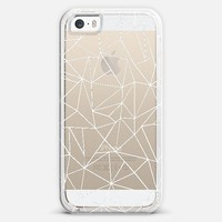 Abstraction Outline White Transparent iPhone 5s case by Project M   Casetify