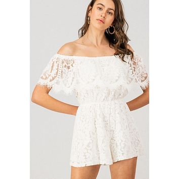 Sweet Times Lace Romper