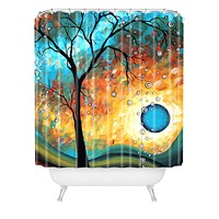 Madart Inc. Aqua Burn Shower Curtain