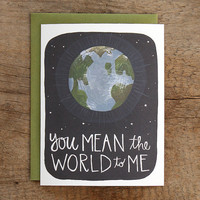 You Mean The World To Me Illustrated Card