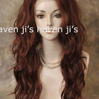New Gorgeous Ginger mix 26inch high quality Lace Front wigs free shipping-in Synthetic Wigs from Beauty & Health on Aliexpress.com