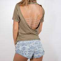 Nude Caged Back Bralette | Disruptive Youth