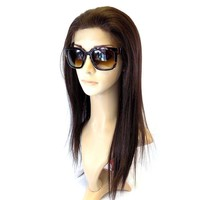 """LACE FRONT WIG , """"100% Human Hair Quality"""" human hair mix fiber Long Straight (LC601)"""