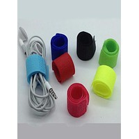 7 pc Assorted Colors Velcro Cable Organizer Wire Cord Management - SC296 - LAST CALL