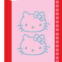 "Chroma 324 Gemz Silver 3"" x 5.25"" Hello Kitty Self-Adhesive Decal Bling Kit"