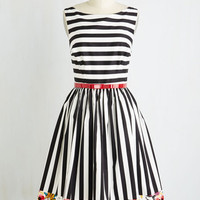 Vintage Inspired Long Sleeveless Fit & Flare Miss Mix-It Dress