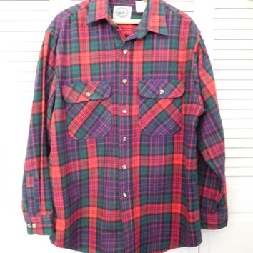Mens Flannel Shirt Thick Flannel Shirt Red Plaid Shirt 90s Flannel Shirt Cotton Flannel Shirt