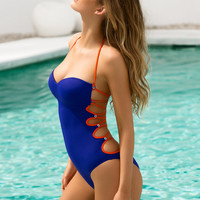 One Pieces Hollow Out Bikini Set Women Swimwear Swimsuit Bathing Suit